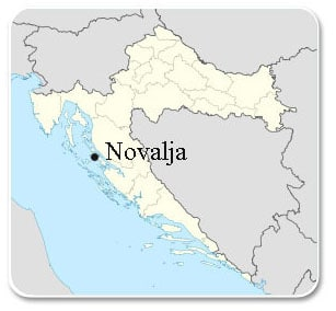 croatia-novalja-map