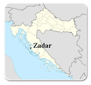 Carte Croatie Zadar.Zadar In Croatia Tourist Guide Accommodation Hotel Map