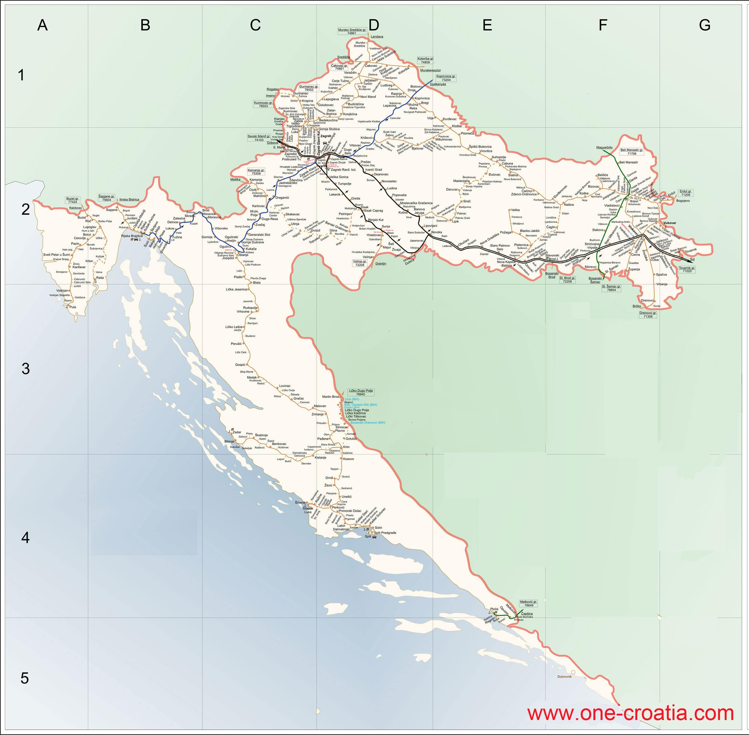 map-croatia-railway-train